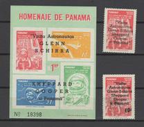 Panama 1963 Space Set Of 2 + S/s With Overprint MNH -scarce-