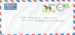 Tanzania 1998 Geita Welsh Cob Horse Flower Cover - Tanzania (1964-...)