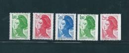 """Timbres De 1985 """"type Liberté"""" N°2375 A 2379 Neufs ** - 1982-90 Liberty Of Gandon"""