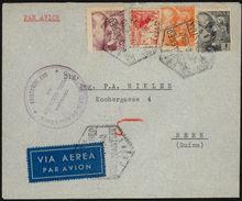 España 1940. Correo Aereo De San Sebastian A Berna. Censura. - Marcas De Censura Nacional