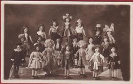 Oude Foto Originele Fotokaart MogelijkVermoedelijk Poppententoonstelling 1934 Antwerpen J. Bulens Merxem Pop Doll Poupee - Historische Documenten