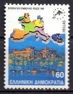 PIA  -  GRECIA :  1988  : Conferenza Del Consiglio D' Europa A Rodi -  (Yv  1695A-96A) - Grèce