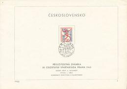 Czechoslovakia / First Day Sheet (1965/01) Praha: Czechoslovak Sports Games - III. Spartakiad, Mass Gymnastics Events