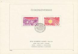 Czechoslovakia / First Day Sheet (1965/04) Praha (b): The Year Of Quiet Sun 1964/65