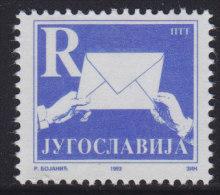 7. Yugoslavia, 1993, Definitive - R, MNH (**) Michel 2607 - 1992-2003 Federal Republic Of Yugoslavia