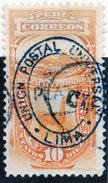 PERÚ-Yv. 8-Taxe -Sobrecarga AZUL -PER-7559 - Perù