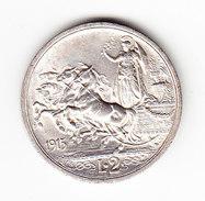 ITALIE    KM  55, 2L, XF+, SILVER, 1915R.   (I 2066) - 1861-1946 : Royaume