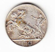 ITALIE KM 68.2, 10 L 1927R, XF, SILVER , XX FERT XX. (1019) - 1861-1946 : Royaume