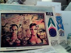 ESPERANTO VISIVO 5 ANNIVERSARIO SCOPERTA AMERICA PITTURA TOTALE GIANNI DI MAURO  VB1992-GB13316 LUNGA - Esperanto