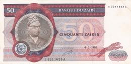 ZAIRE   50 Zaires   04/02/1980   Sign.5   G&D   P. 25a - Zaïre