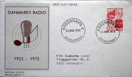 Denmark 1975   Denmark Radio´s 50th Anniversary, Minr.587  FDC ( Lot 5031 ) - FDC