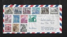 ESPAGNE 1966 LETTRE DE VALENCIA A LEVERKUSEN Mi 1627-1634 + 1636-1640 - 1931-Aujourd'hui: II. République - ....Juan Carlos I