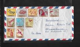 ESPAGNE 1967 LETTRE DE VALENCIA A LEVERKUSEN Mi 1665-1674 - 1961-70 Brieven