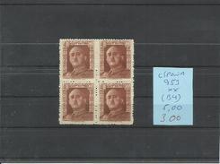 ESPAÑA EDIFIL  953  ( BLOQUE DE 4 SELLOS)   MNH  ** - 1931-50 Nuevos & Fijasellos