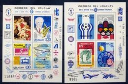 URUGUAY 1977 № 1402 + 100 World Postal Union (UPU). UPU - Copa Mundial