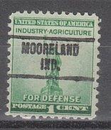 USA Precancel Vorausentwertung Preos Locals Indiana, Mooreland 734