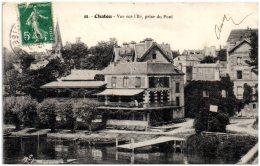 78 CHATOU - Vue Sur L'Ile, Prise Du Pont  (Recto/Verso) - Chatou