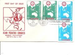 Santé -Pédiatrie ( FDC Des Philippines De 1974 Avec Timbres Dentelés Et Non Dentelés à Voir) - Non Classificati