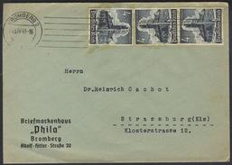 B561 DR Deutsches Reich Brief Bedarf 1941 Paar Sondermarke Mi. 752 Maschinenstempel Bromberg Briefmarkenhaus Phila - Deutschland