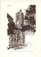 1945 - Héliogravure - Bourges (Cher) - La Tour De Beurre - FRANCO DE PORT - Vieux Papiers