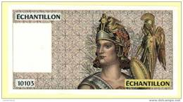 Billet échantillon ATHENA (100 Francs DELACROIX)  Neuf - UNC (N°260-1) - Specimen