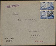 España 1940. Correo Aereo De Barcelona A Berna. Censura. - Marcas De Censura Nacional