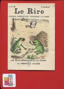 JOURNAL HUMORISTIQUE LE RIRE MINI PUBLICITÉ 2 PAGES   3 SCANS  GRENOUILLE CANARD CISEAUX - Publicités
