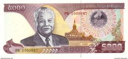 LAOS 5000 KIP 2003 P-34b UNC [ LA511b ] - Laos