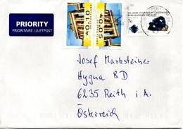 Auslands - Brief Von Briefzentrum 20 Mit 85 Cent Mischfrankaturmit Werbestempel 2017 - BRD