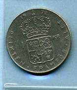 1972  1 Couronne - Suède
