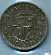 1987  1 Roupie - Mauritius
