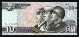 Korea 2002, 10 Won - UNC - Korea (Nord-)