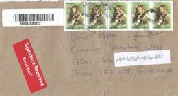 Tanzania 2010 Arusha Lion Wild Cat Barcoded Registered Cover - Tanzania (1964-...)