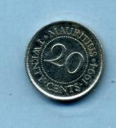 1994  20  Cents - Mauritius