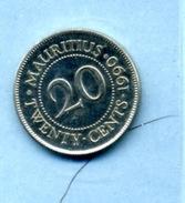 1990  20  Cents - Mauritius