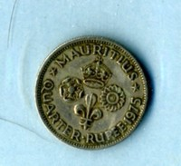 1975  1/4 Roupie - Mauricio
