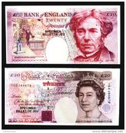 Lot De 2 Billets De Jeu 20 £ ( N° 481 ) - [ 8] Fakes & Specimens