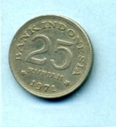 1971  25 Roupie - Indonésie