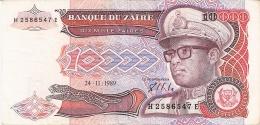 ZAIRE   10,000 Zaires   24/11/1989   Sign.7   G&D   P. 38a - Zaïre