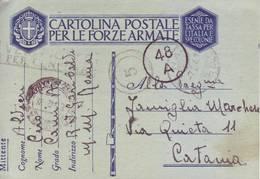Italia 1942 - Cartolina Postale Per Le F.A., In Franchigia Militare Con Verifica Del CNL - 6. 1946-.. Repubblica