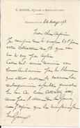 REGMALARD ORNE N RIBLIER NOTAIRE LETTRE ANNEE 1893 - Factures & Documents Commerciaux