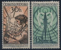 **Czechoslovakia 1958 Mi 1083-84 (2) Telephony Service MNH - Nuovi