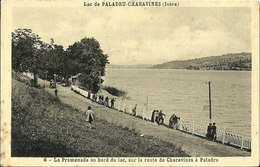 Lac De Paladru Charavines La Promenade Au Bord Du Lac - Paladru