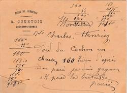 Enveloppe Commerciale Hôtel Du Commerce / A. COURTOIS / 25 Orchamps Vennes / Doubs / Concours Poids Cochon - France