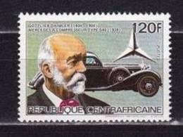 CENTRAFRIQUE Automobiles, Voitures, Cars, Coches. Mercedes, Yvert N°653L  **. MNH. Dentelé, Perforate - Auto's