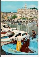 MENTON : Le Vieux Port - Pêcheurs Ramassant Leurs Filets - - Menton