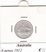 AUSTRALIA   6 PENCE   1912  COME DA FOTO - Moneta Pre-decimale (1910-1965)