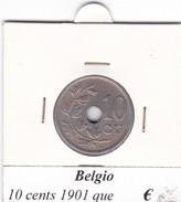 BELGIO   10 CENTS 1901  COME DA FOTO - 1865-1909: Leopoldo II