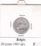 BELGIO   50 CENTS 1901  COME DA FOTO - 1865-1909: Leopoldo II