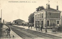 49 -CHATEAUNEUF SUR SARTHE    LA GARE - Chateauneuf Sur Sarthe